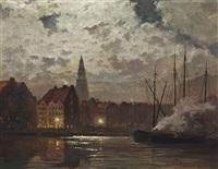 amsterdam by moonlight by c. f. ahl
