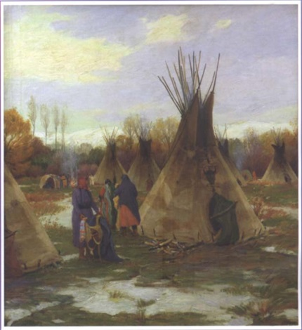 squaw winter by joseph henry sharp