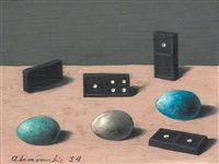 dominoes and robin eggs by gertrude abercrombie