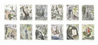 songes (set of 20) by marc chagall