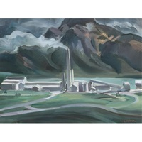 the cement works, exshaw by george douglas pepper