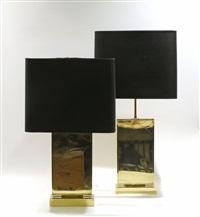 paire de lampes en forme de stèle (pair) by christian krekels