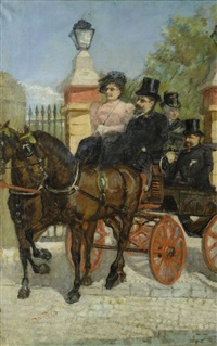 in carrozza by giovanni boldini