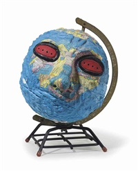 untitled (globe head) by david wojnarowicz