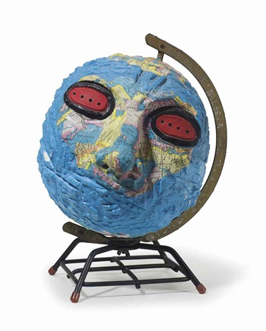 untitled globe head by david wojnarowicz