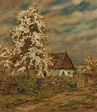 blühender birnbaum by jan honsa