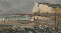 balade sur la plage du treport by norbert goeneutte