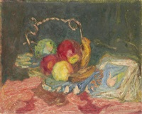 fruit in silver dish by henryk gotlib