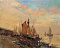 nieuwpoort in the belgian coast by alfred théodore joseph bastien
