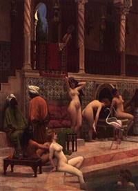 le bain des femmes au harem by antoine druet