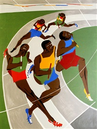munich olympic games by jacob lawrence