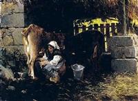 ordeñando la vaca by salvador martínez cubells