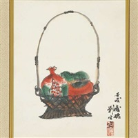 the basket of pomegranates by ryusei kishida