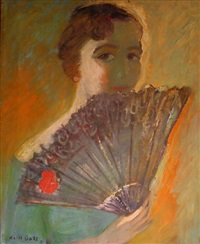 woman with a fan by karla goetz