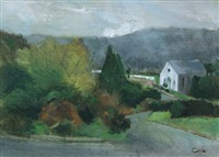 church near avoca by john coyle