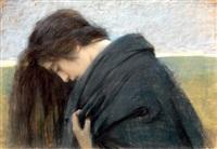 volto femminile reclinato by cesare laurenti