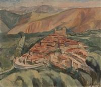 landsby i syd-frankrike by jean heiberg