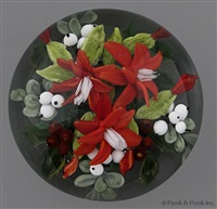 christmas cactus with berries paperweight by rick ayotte