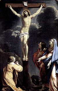 crucifixion by charles françois poerson