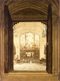 choir of st. george's chapel, windsor by frederick nash