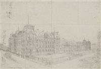 vue de la gare saint lazare by charles fichot
