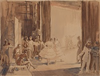 rehearsal for carnival by sir daryl ernest lindsay
