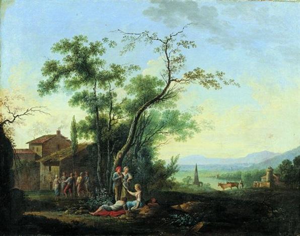 la fête de larbre de mai by jean baptiste charles claudot