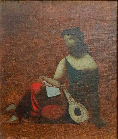 the lute player by byron browne