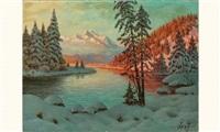 lac enneigé by piotr livoff ivanovitch