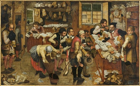 le paiement de la dîme by pieter brueghel the younger