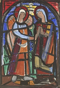 cartoon for window (the annunciation) by evie hone