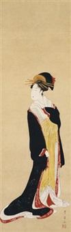 standing beauty by utagawa toyohiro