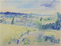 les moissons by jean dufy