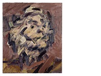 head of j.y.m by frank auerbach