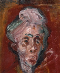 head study for tired lady by william dobell