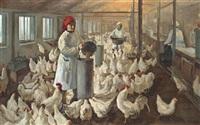 chicken farm by viktor aleksandrovich tsvetkov