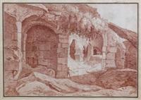 personnage dans des ruines romaines by jacques françois amand