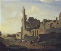 paesaggio con rovine ed armenti by pieter anthonisz van groenewegen