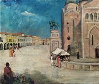 piazza del santo in padua by bernard gobiet