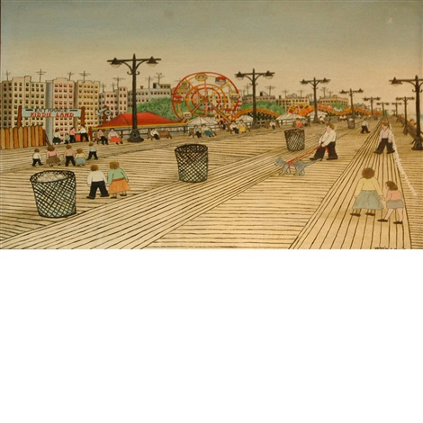 coney island boardwalk by vestie davis