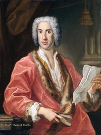 portrait of the honourable edward finch, of kirby hall, northamptonshire by antonio david