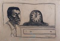 retrato con reloj by pablo suárez