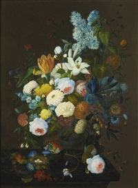 floral still life by severin roesen