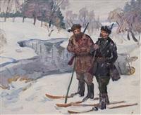 ленин на охоте by sergei yakovlevich dunchev