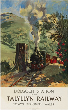 dolgoch station on the talyllyn railway by terence cuneo