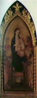 la vierge et l'enfent en trone entre six saints by lippo d'andrea (ambrogio di baldese)