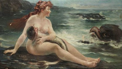 nu aux dauphins by adolphe lalire