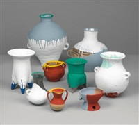coloured vases (in 9 parts) by ai weiwei