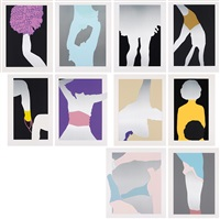 the sister troop (complete portfolio of 10 works) by gary hume