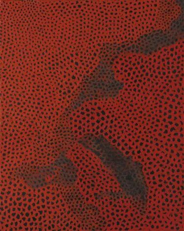 red nets no 19 by yayoi kusama